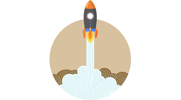 Rocket Boost Flat Image with Transparent Background