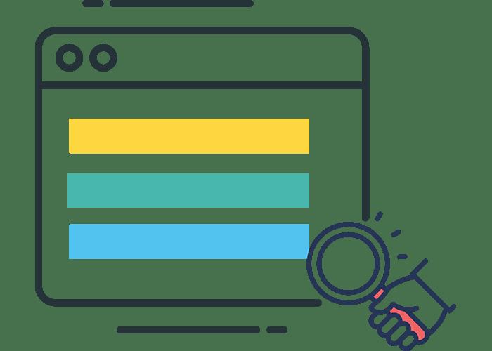 Domain search flat icon