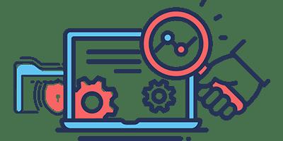 Web Development bi color flat icon
