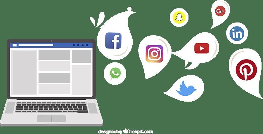 Social Media Marketing Concept Flat Image