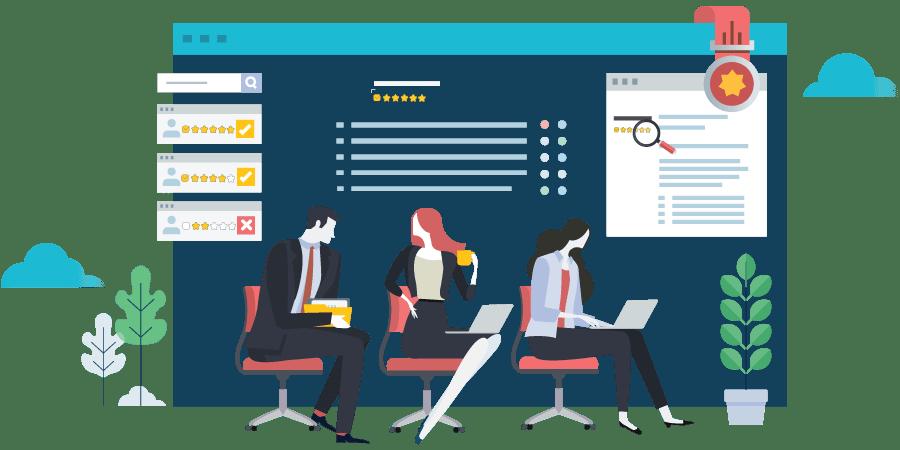 Online Reputation Management Flat Image