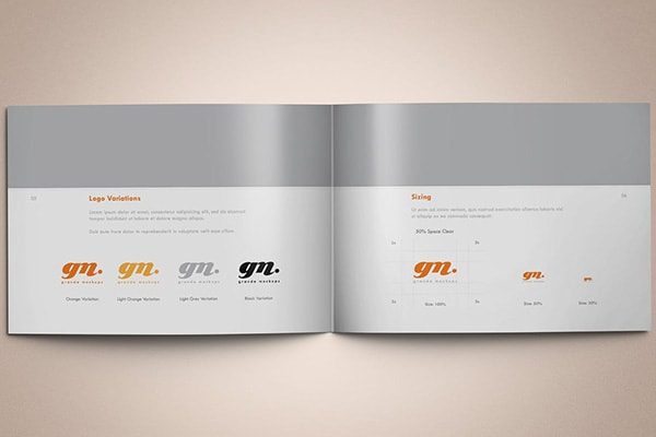 Simple Brand Book Design by BrandLume