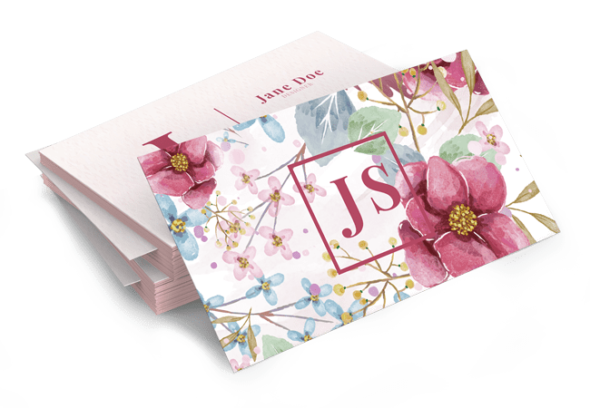 Floral Business Card Design by BrandLume