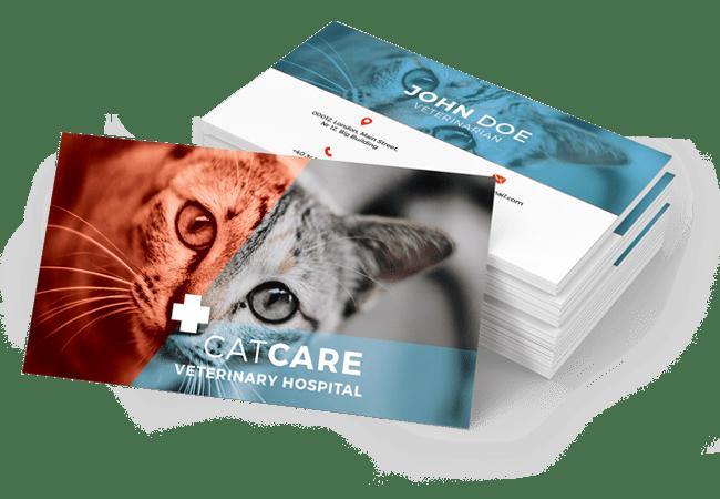Veterinary Business Card Design by BrandLume