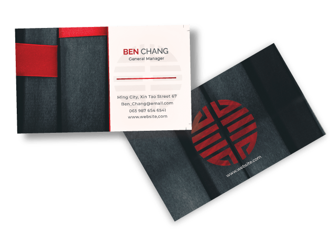 Red and Black Business card Design by BrandLume