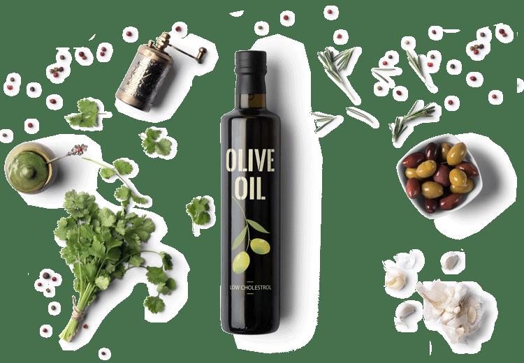 Clean Label Design for Olive Oil Bottle by BrandLume