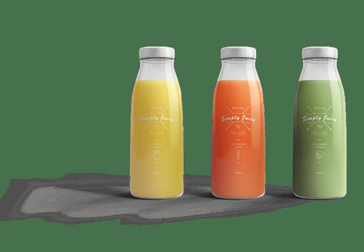 Simplistic Label Design for Juice Bottles by BrandLume