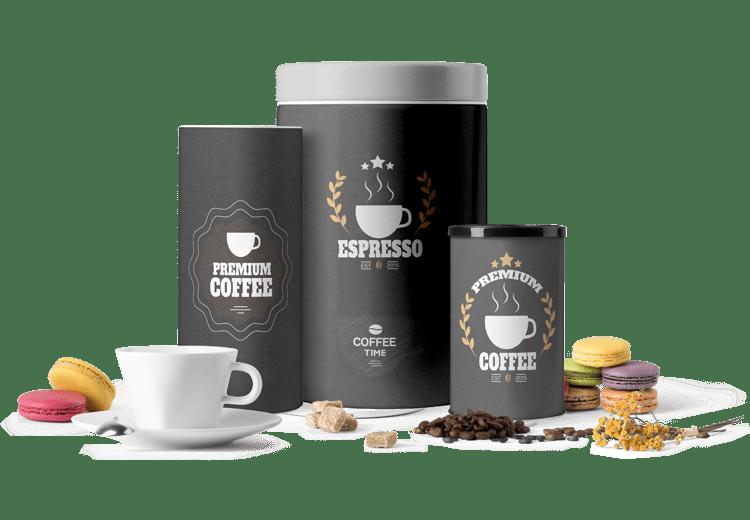 Coffee Tin Packaging Design by BrandLume
