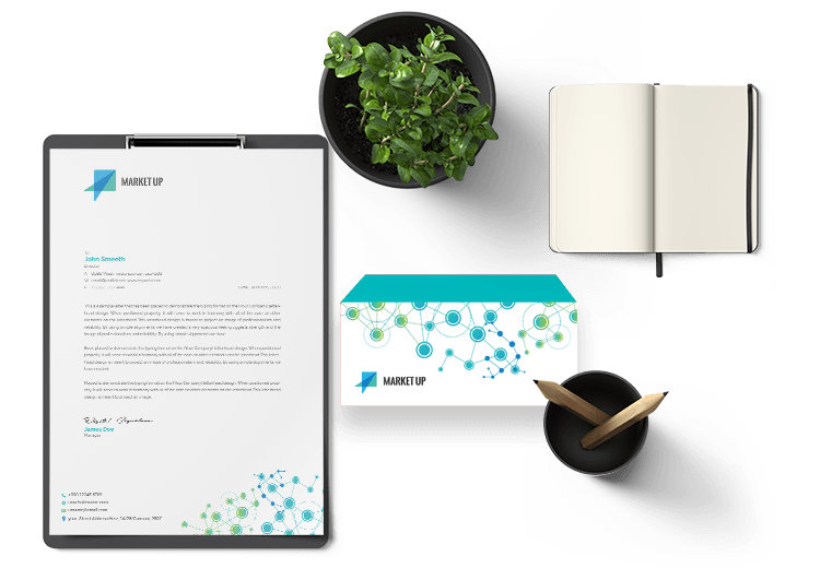 Technology Design for Letterhead and Envelope by BrandLume