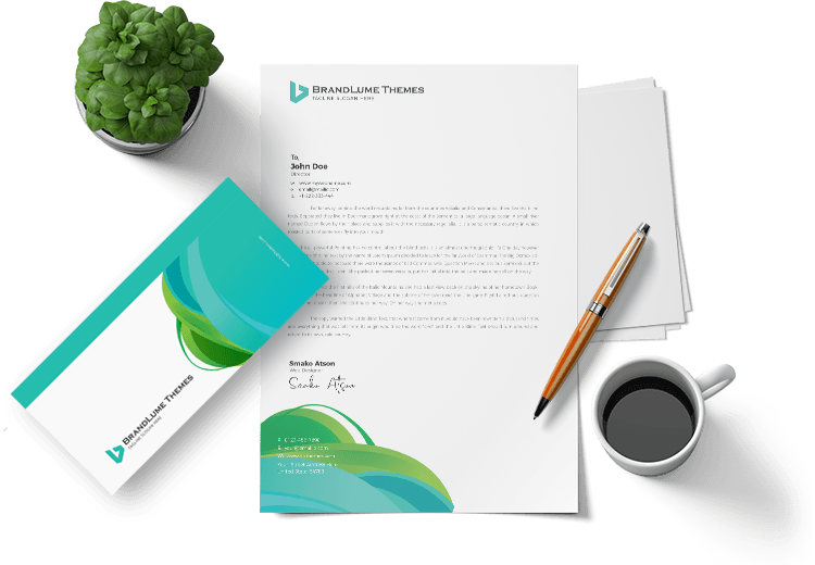 Modern Letterhead and Envelope Design by BrandLume