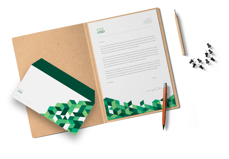 Corporate Green Letterhead and Envelope Design by BrandLume