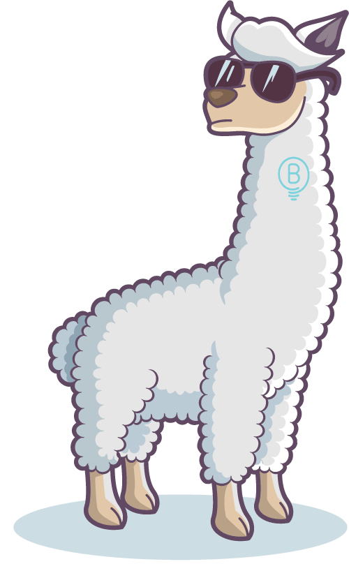 Funny Llama with sunglasses