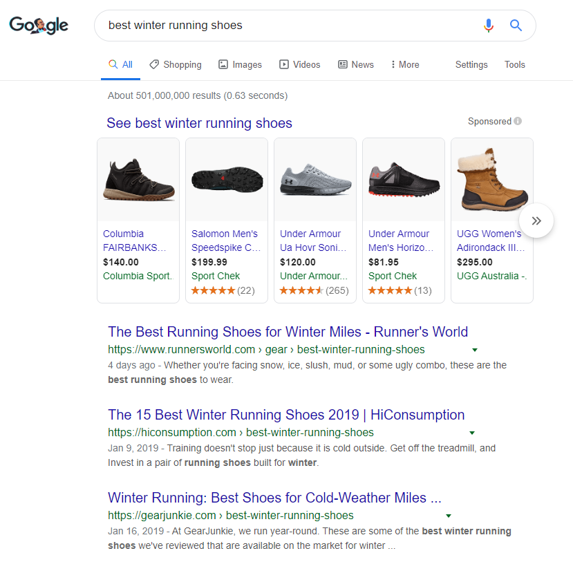 Best winter running shoes search result