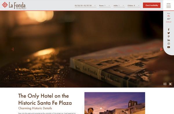 Previous Hotel Website Design Sample