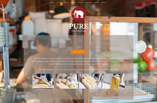 Previous Thai Restaurant Website Design Sample