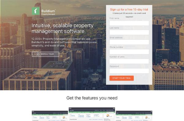 Buldium Landing Page Example
