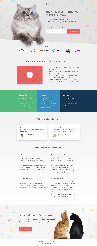 Eusoh Landing Page Example