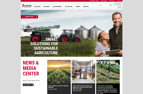 Previous Agricultural Manufacturing Website Design Sample