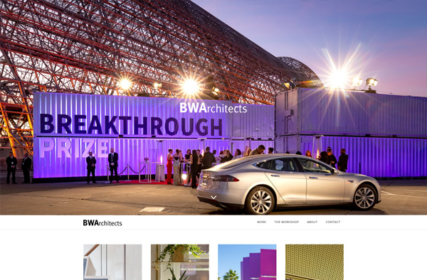 Previous Architecture Website Design Example