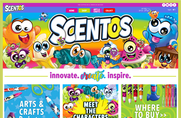 Previous Arts and Crafts Website Design Example
