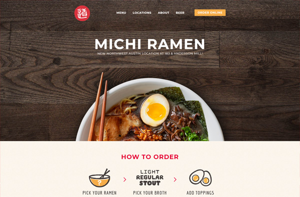 Previous Thai Restaurant Website Design Sample