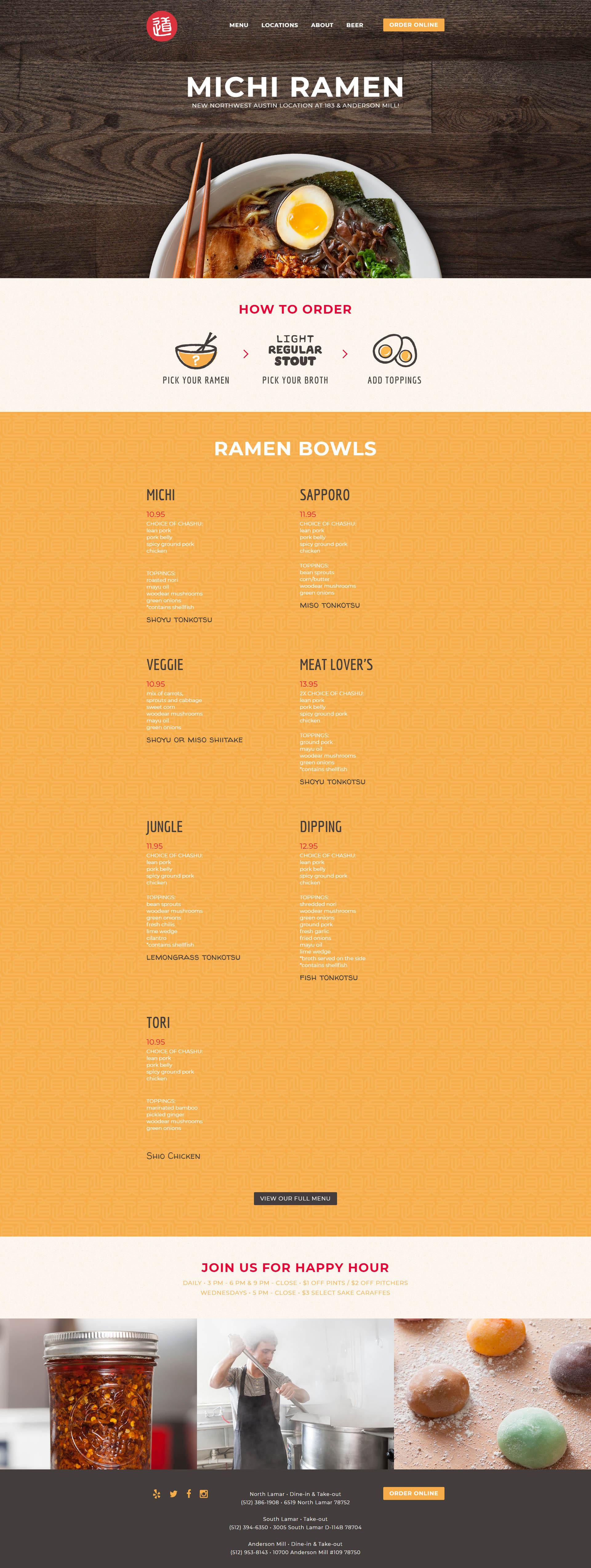 Previous Authentic Restaurant Website Design Sample