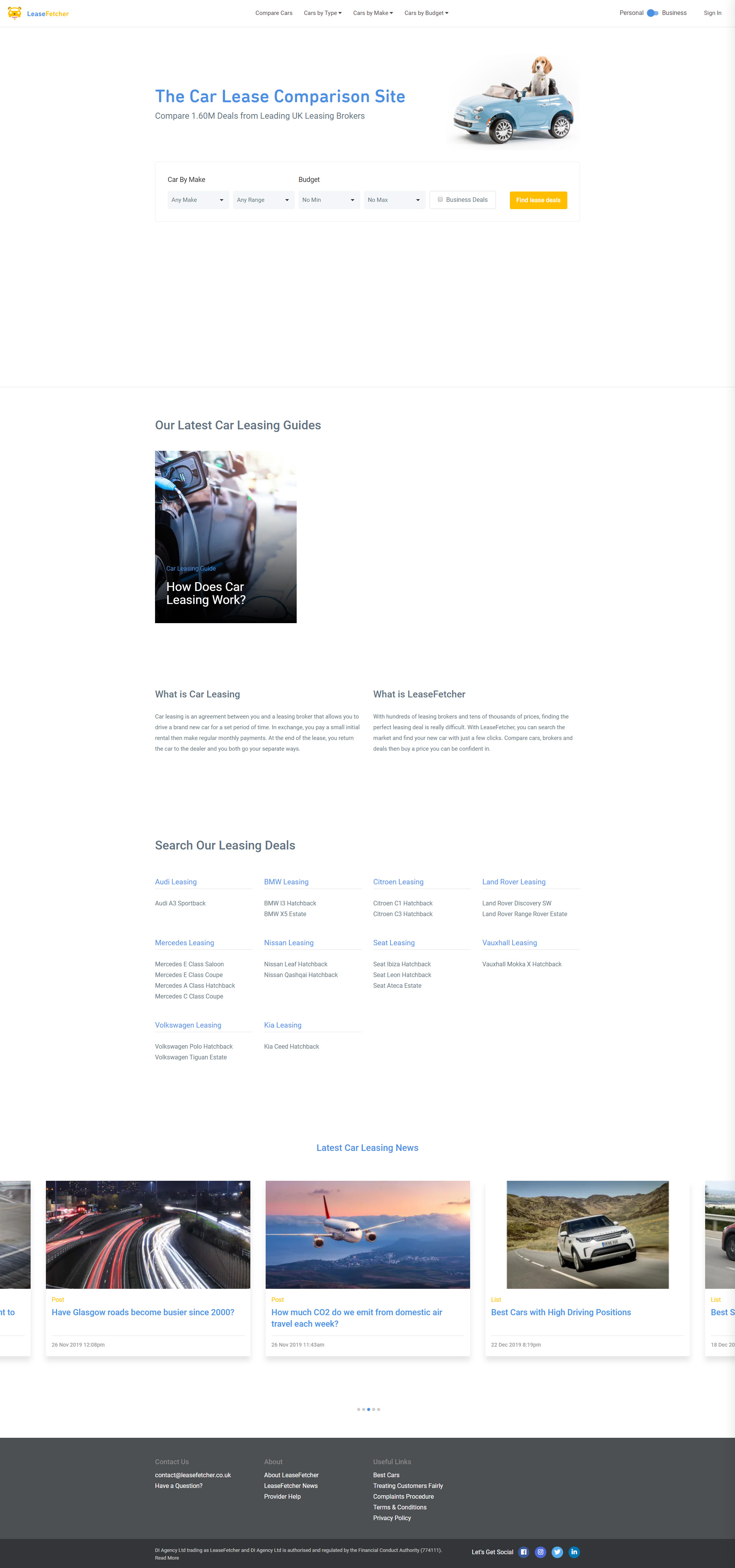 Previous Automobile Comparison Website Design Example
