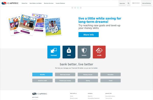 Previous Bank Website Design Sample
