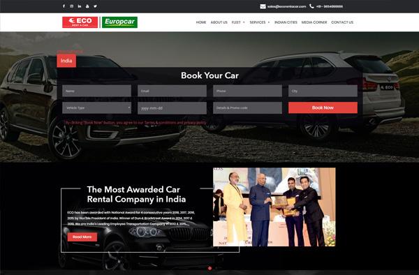 Previous Car Rental Website Design Sample