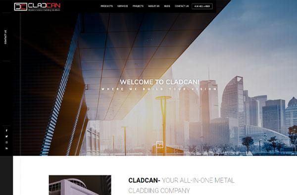 Previous Construction Website Design Example