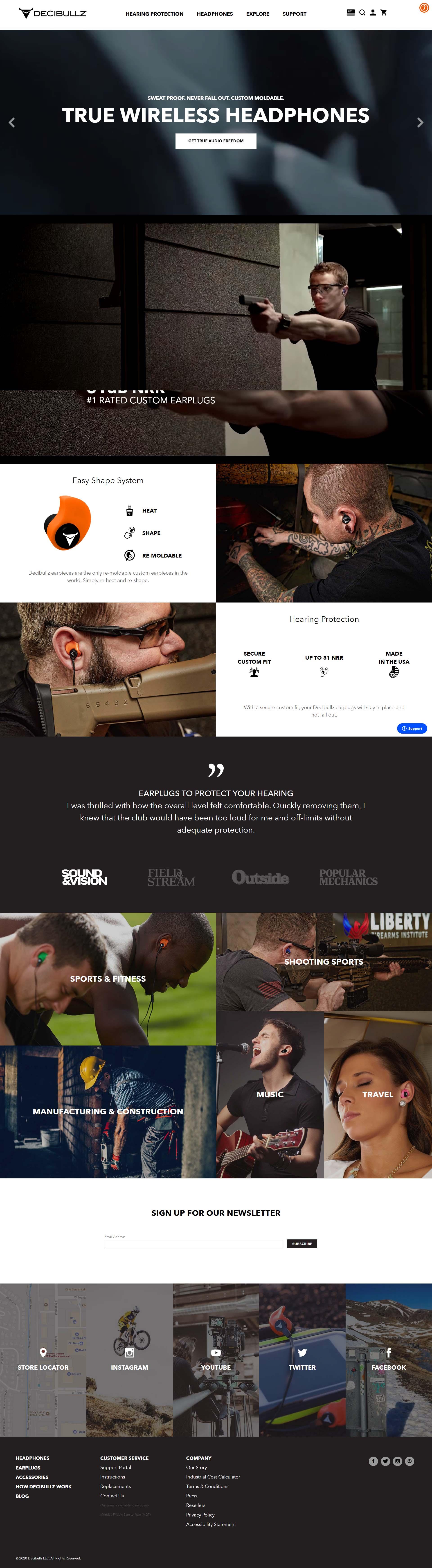Previous Consumer Goods Website Design Example