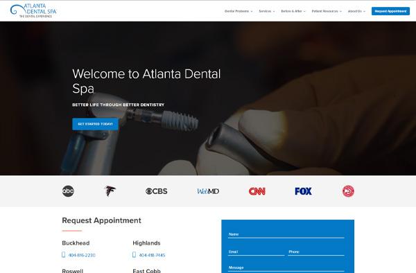 Previous Dental Care Website Design Sample