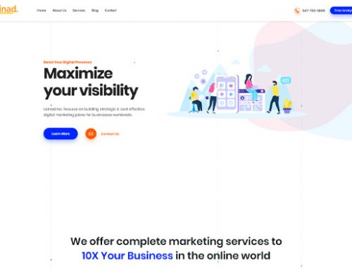 Previous Digital Marketing Website Design Example