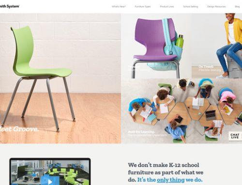 Previous Education Furniture Website Design Example