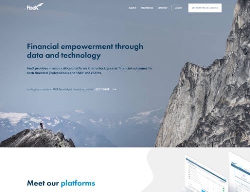 Previous Financial Data and Technology Website Design Sample
