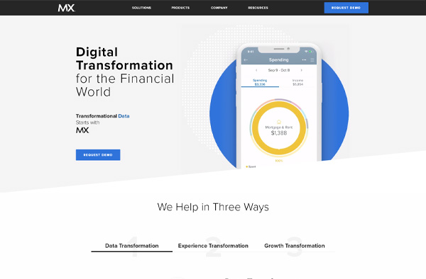 Previous Financial Technology Website Design Sample