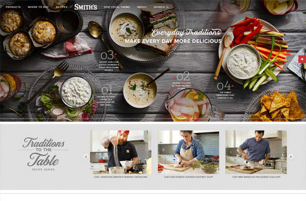 Previous Food Industry Website Design Example
