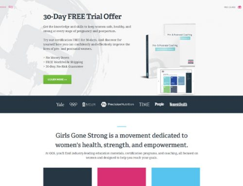 Previous Health & Fitness Website Design Example