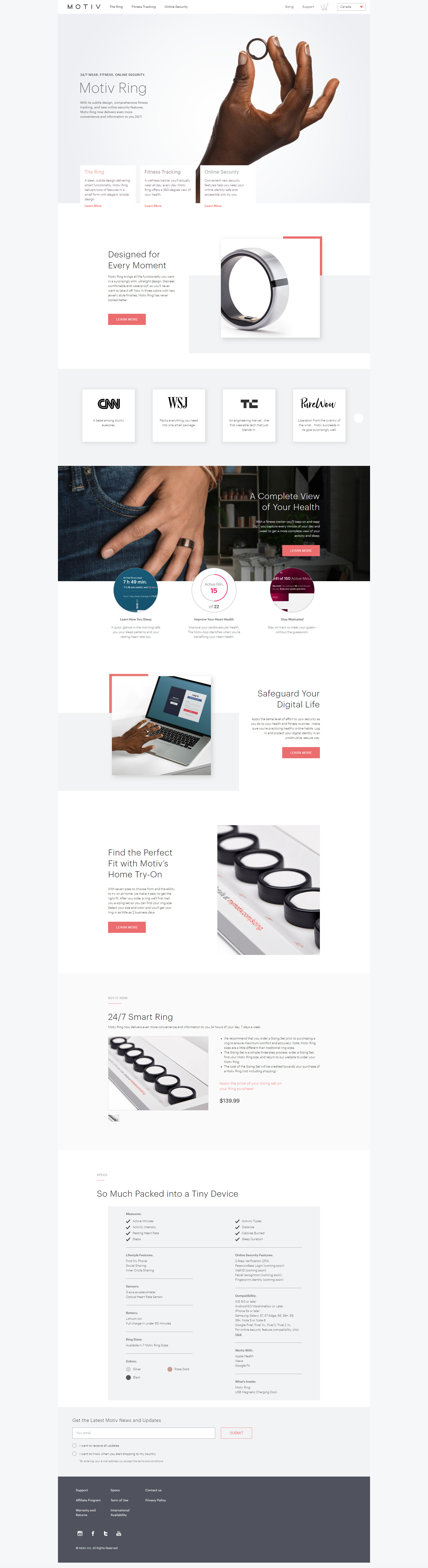 Previous Health Technology Website Design Example