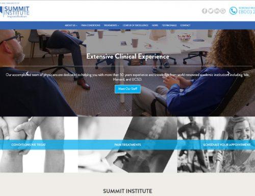 Previous Healthcare Institute Website Design Sample