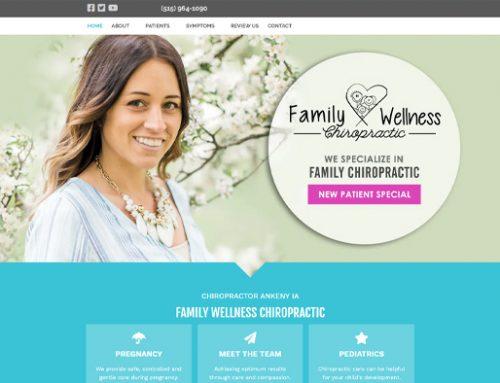 Previous Healthcare Provider Website Design Sample
