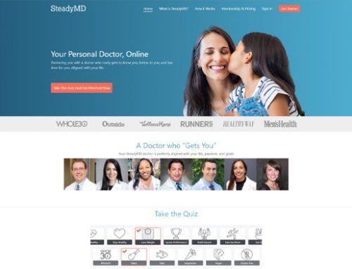 Previous Health Care Website Design Sample