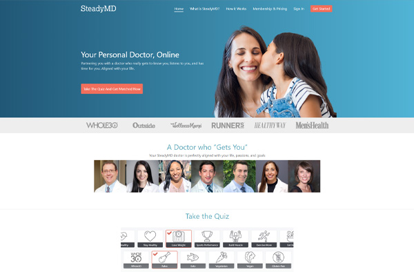Previous Health Care Website Design Sample