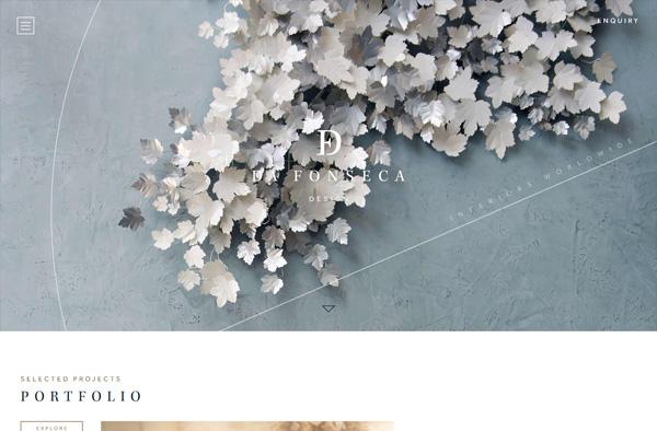 Previous Interior Design Website Design Example