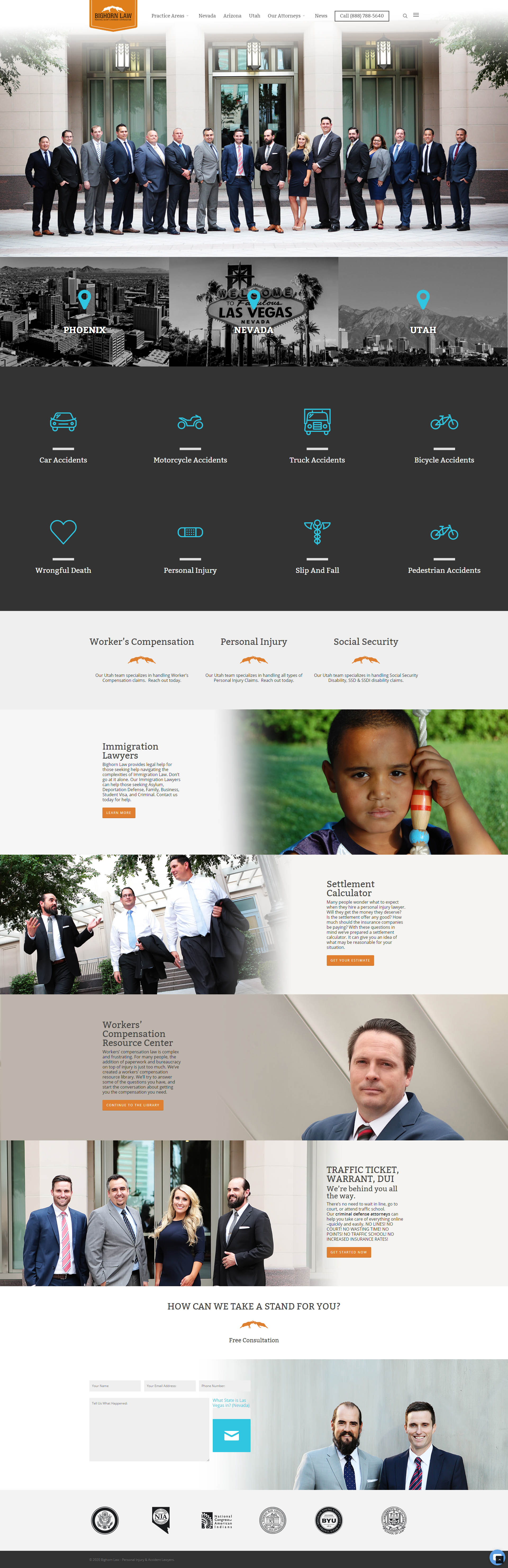 Previous Legal Website Design Sample