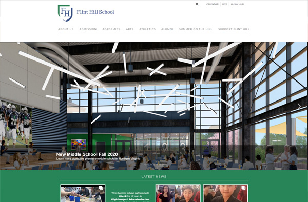 Previous Middle School Website Design Example