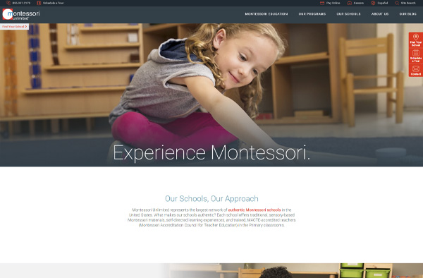 Previous Preschool Education Website Design Example