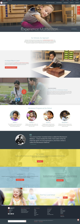 Previous Preschool Education Website Design Example