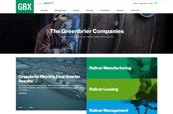 Previous Railcar Manufacturing Website Design Sample