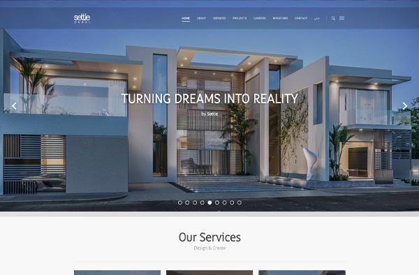 Previous Real Estate Development Website Design Example